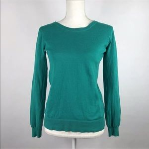 Bp Crewneck Sweater Teal Long Sleeve Fitted Medium